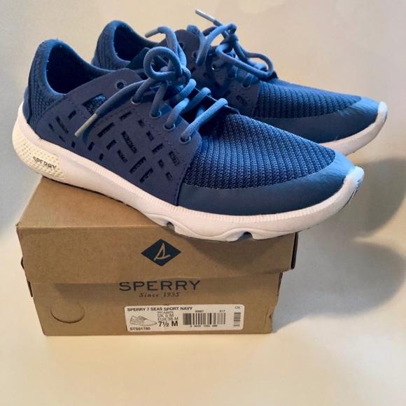 d881f8a2389f6 Sperry Women's 7 Seas Sport Navy Boat Shoes 7.5. M_5c561847baebf612b34564ee